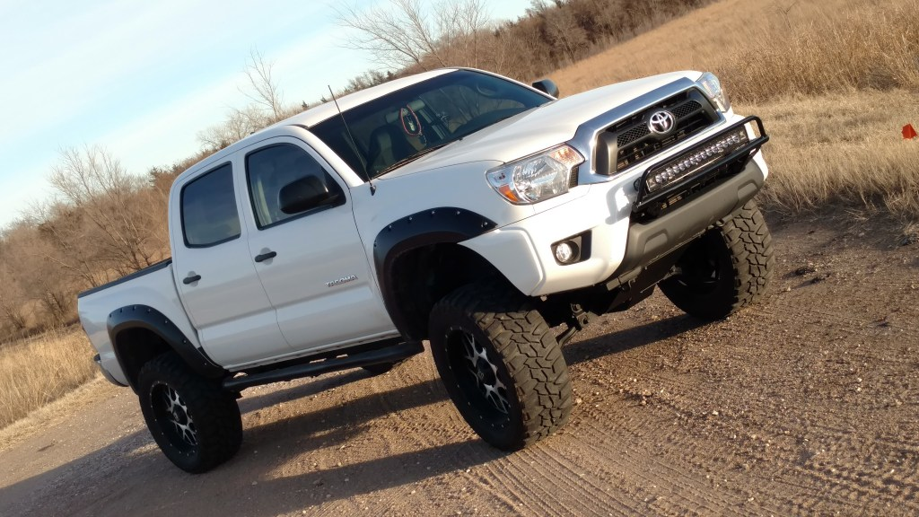 "Thomas Hardcastle is another one of Truck Stuff's recent happy customers. His 2015 Toyota Tacoma was a blast to work on. He says it's ""Fun outside in the country""."