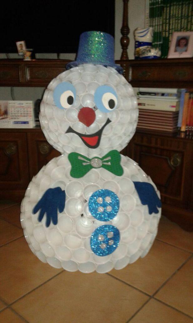 Manualidades Haz Tu Muñeco De Nieve Con Vasos De Plástico Trucos