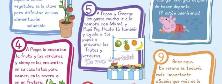 PEPPA PIG ENSEÑA A COMER DE UNA MANERA SALUDABLE  Foto de %title