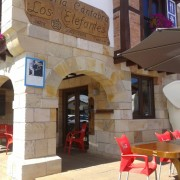El restaurante donde comimos, al lado del parque de Cabárceno y con un parque de bolas en el interior para los niños