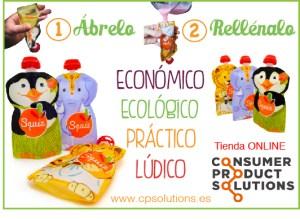 EL POST INVITADO: LLEGAN A ESPAÑA LAS BOLSAS REUTILIZABLES PARA LA ALIMENTACIÓN INFANTIL  Foto de %title