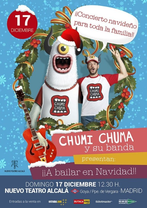 "¡¡¡SORTEO!!! GANA UN PACK DE 4 ENTRADAS PARA EL MUSICAL ""CHUMI CHUMA, ¡¡A BAILAR EN NAVIDAD!!  Foto de %title"