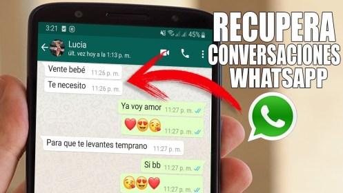 conversaciones eliminadas en WhatsApp