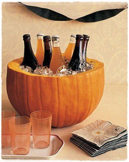 Decoración para Halloween casera: cubitera calabaza