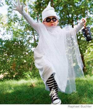 disfraz casero de halloween para niños: fantasma