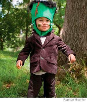 disfraz casero de halloween para niños de frankenstein