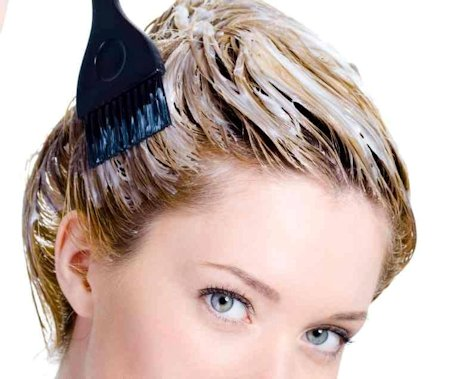 Manchas de tinte del pelo