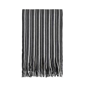 echarpe-rayee-noir-gris