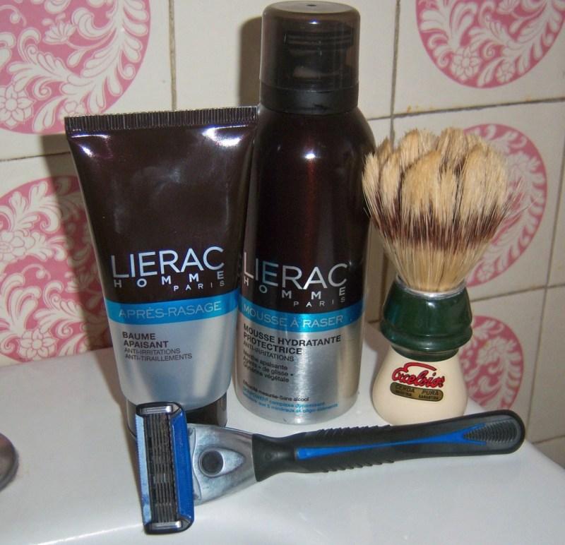routine rasage Lierac