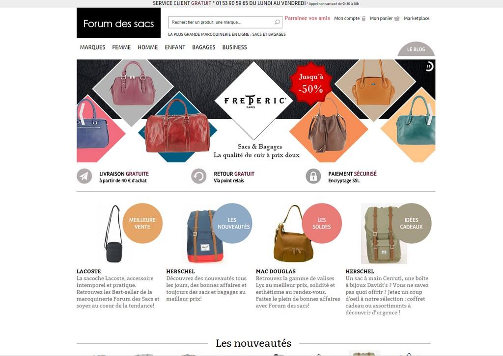 Forum des Sacs : Maroquinerie en ligne et bagages