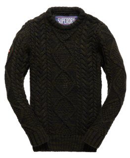 Pull col rond Black Blizzard Soldes hiver 2016 Superdry