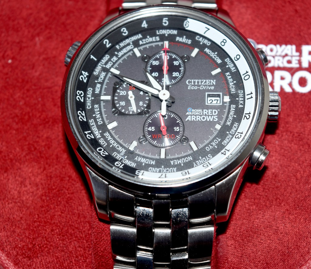 ChronographMontre Eco Homme De Red Qualité Drive Arrows Citizen gb7yf6