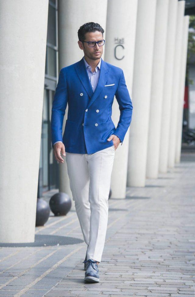 Porter le costume en t choisir un mod le en tissu l ger et respirant - Costume homme ete ...