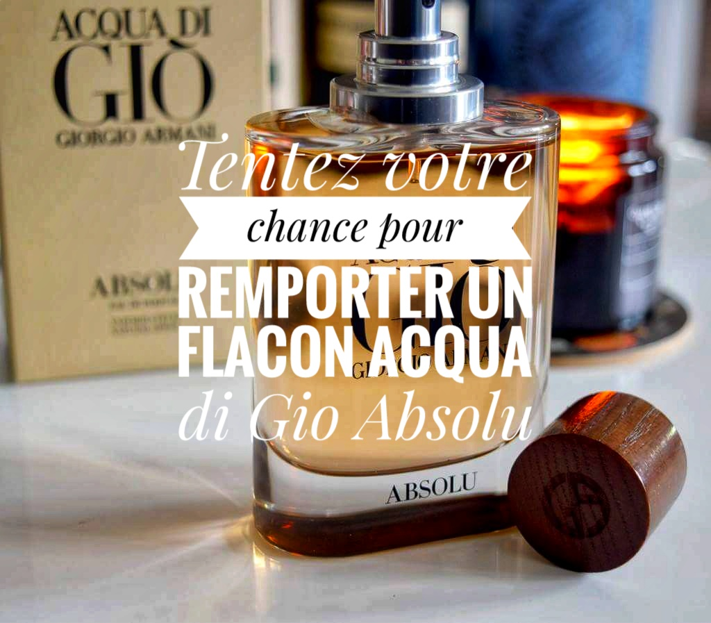 [Concours Inside] Gagne ton flacon Acqua di Gio Absolu