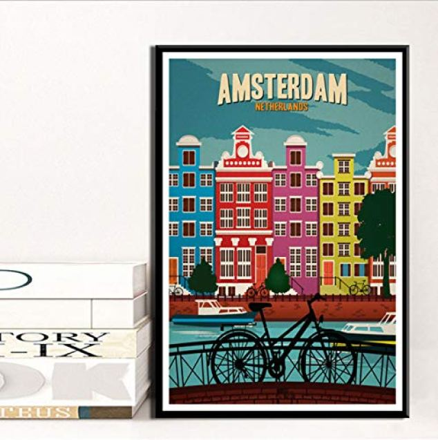 affiche vintage ville