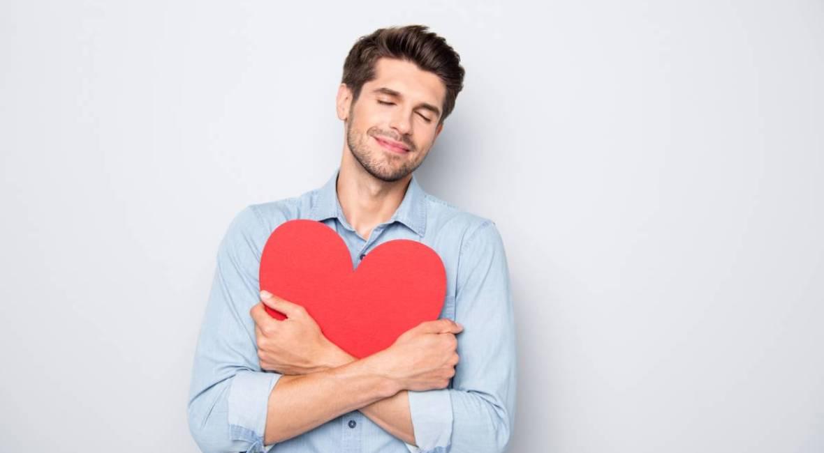 Saint-Valentin pensez à la carte postale photo