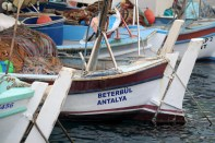 Havnen og fiskebåtene.