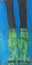 These Boots were made for Walking - Acrylic paint on canvas