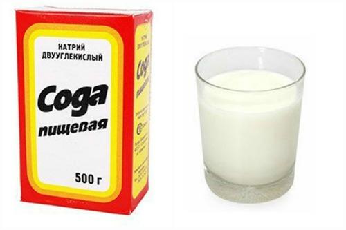 Сода и молоко