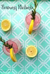easy rosemary rhubarb cocktail