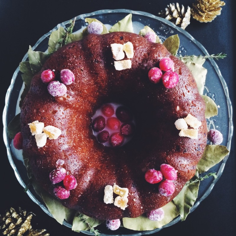 Cranberry Ginger Coconut Cake