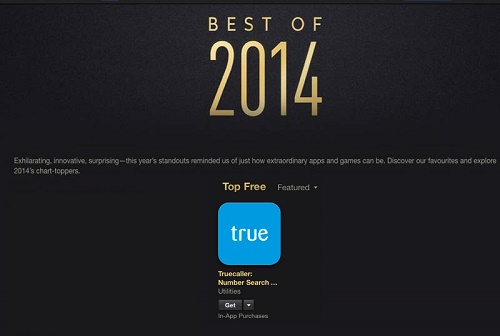 Apple's iTunes Store Awards Mention Truecaller As a Most