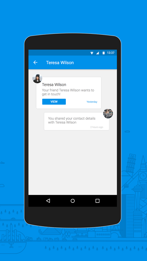 caption: Contact Request Notifications