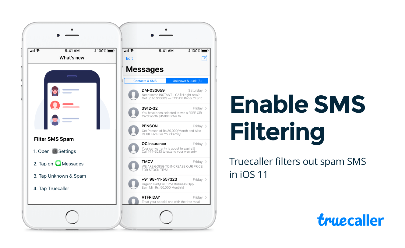 SMS Spam Filtering Comes to iPhone! - Truecaller Blog
