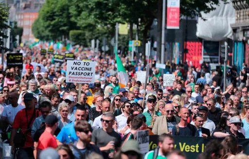 World-Wide Rally For Freedom - Belfast, July 24, 2021.