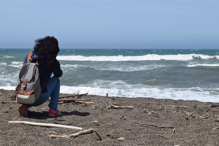 One of my attendees photographing Moonstone Beach