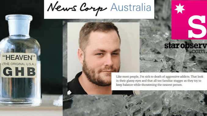 DAZED & CONFUSED! News Corp editor threatens defamation, then goes AWOL over meth arrest and 'shit on desk' defecation!