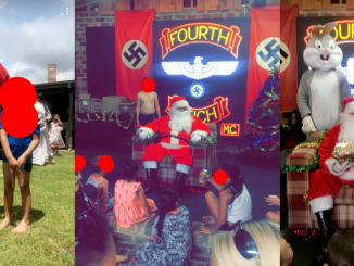 "ACHTUNG! SIEG HEIL! Santa celebrates with kids & swastikas at  ""Fourth Reich"" Christmas party in Australia"
