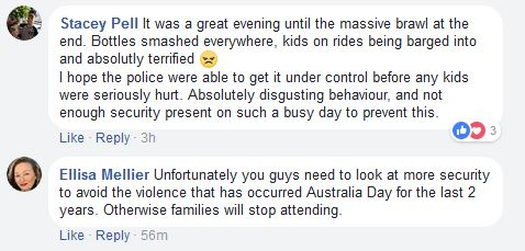 Women comment about brawl on NSW South Coast carnival on Australia Day