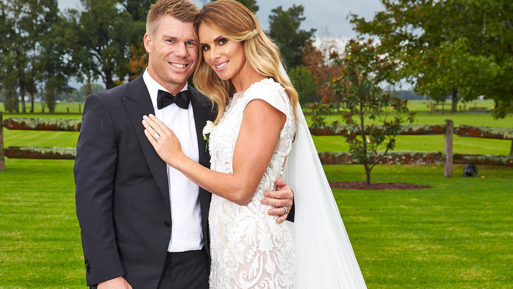 David And Candice Warner on Wedding Day_WomansDay.jpg