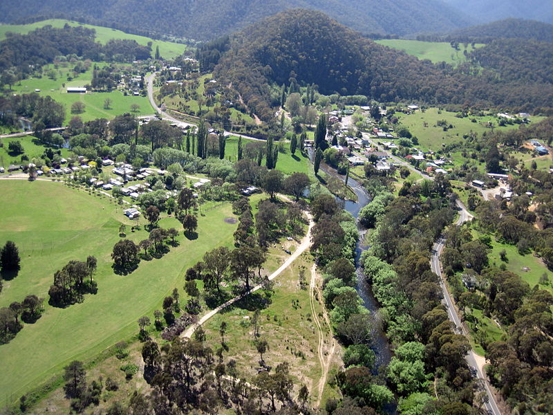 Mitta_Mitta_township_from_the_air