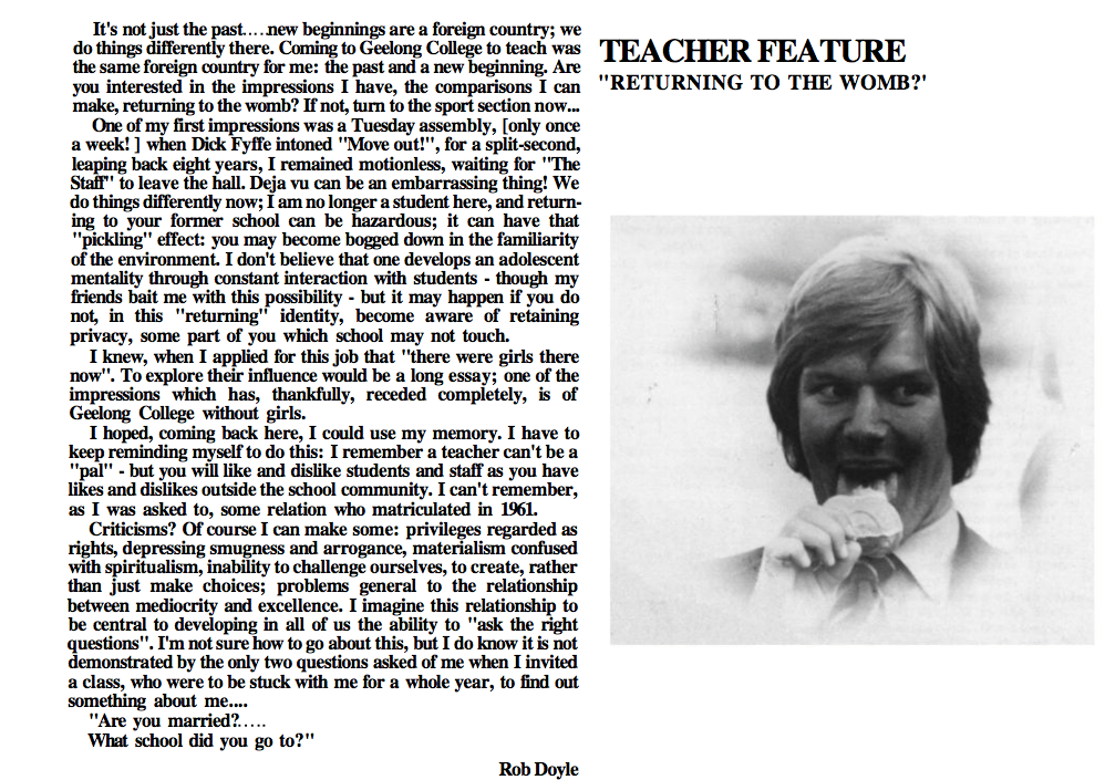 Doyle Yearbook Comments 1978