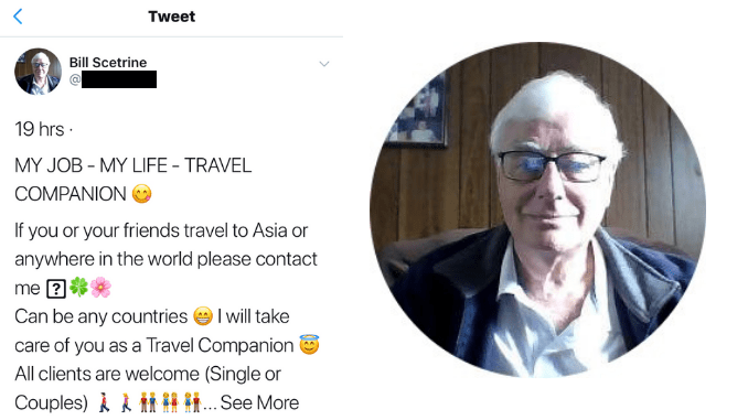 """""""DADDY BALLARAT""""! Sent to prison for raping 4 boys, former journo & convicted pedo William Scetrine builds social media following in thousands & now searching for """"friends"""" to take around Asia"""