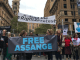 """FREE THE TRUTH! FREE ASSANGE! DON'T SHOOT THE MESSENGER""! Australians protest in support of Wikileaks publisher Julian Assange"