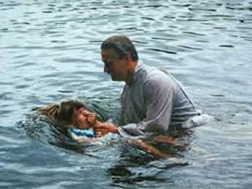 Image result for full immersion baptism