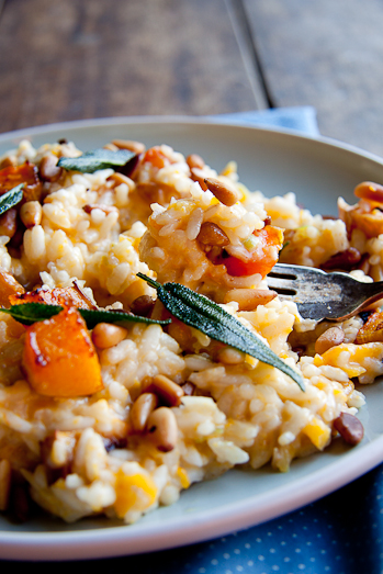 Baked Risotto with Butternut, Pine Nuts and Sage