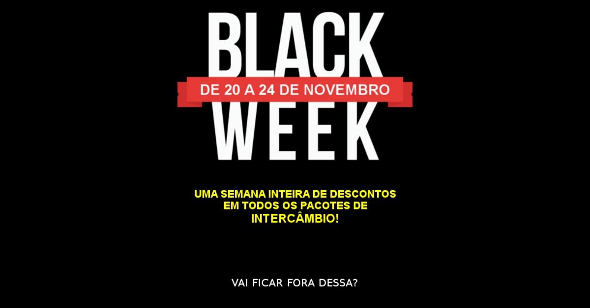 Intercâmbio com desconto é na Black Week True!