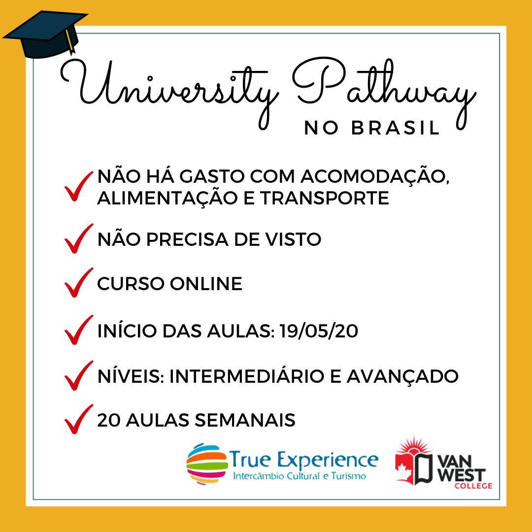 Faça o University Pathway no Brasil!