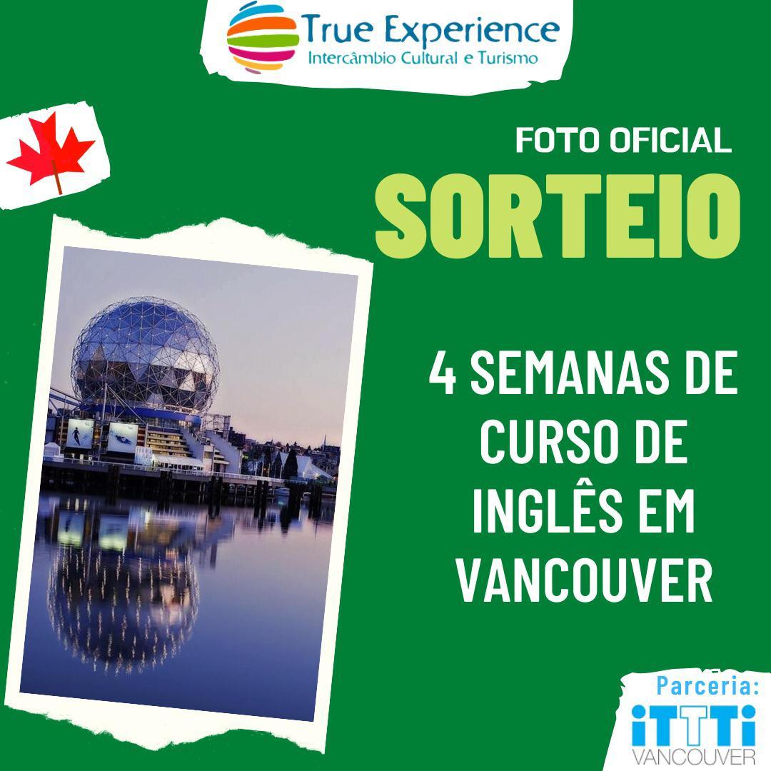 SORTEIO RELÂMPAGO – 4 Semanas de Curso de Inglês no Canadá