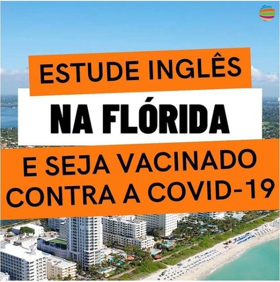 Estude Inglês na Flórida e Seja Vacinado Contra a Covid-19