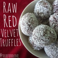 Raw Vegan Red Velvet Truffles