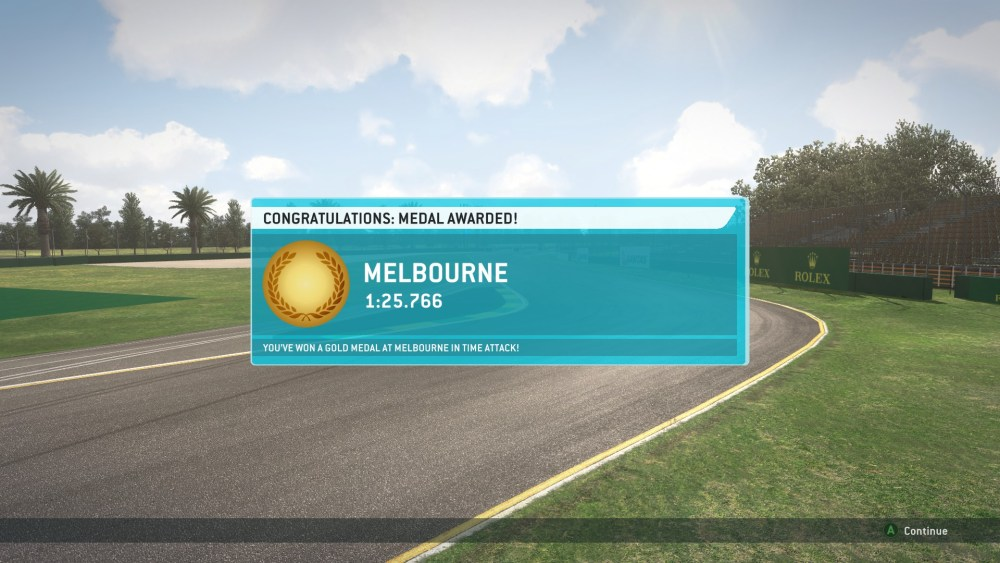 Gold Medals Obtained in Every Time Attack in F1 2013 (Screenshots Included) (1/6)