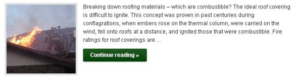 Breaking down roofing materials - which are combustible? - Click to Read More