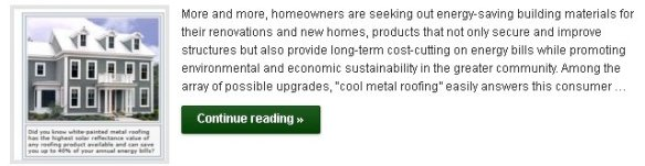 Energy Savings with Cool Metal Roofing - Click to Read More