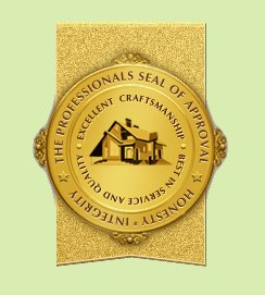 Professional Seal of Approval - Best in Service & Quality