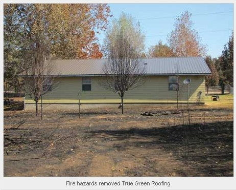 Fire hazards removed True Green Roofing
